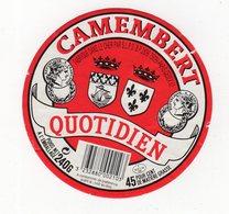 Jan20  18448 étiquette Camembert   Quotidien - Formaggio