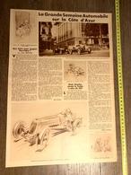 1934 M AUTOMOBILE SUR LA COTE D AZUR CASINO NUVOLARI SUIT LE COMTE TROSSI ETANCELIN MASERATI VILLENNES CHARLOT HYDRAVION - Collections