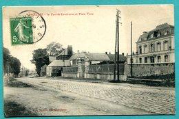 59 - MAROILLES  Le Pavé De Landrecies Et Place Verte   2 Scans  Voyagée  1928 - France