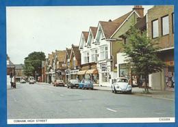 CPM Surrey COBHAM High Street Vintage Card Coccinelle Volkswagen Et Austin Mini - Surrey