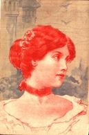 Femme Illustrée 395, Rouge Et Gris - Illustrators & Photographers