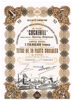 Titre Ancien - Cockerill-Ougrée-Providence Et Espérance-Longdoz - Titre De 1970 - Déco - Industrie