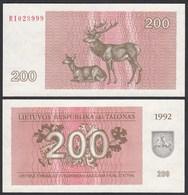 LITAUEN - LITHUANIA - 200 TALONAS 1992 PICK 43a UNC (1)  (25469 - Lithuania