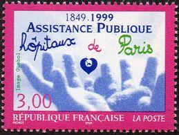 France N° 3216 ** Santé - Assistance Publique - Hôpitaux De Paris - Mains, Coeur - France