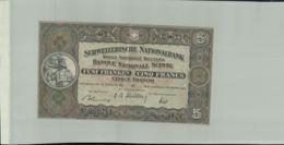 BILLET Banque  Nationale Suisse  Cinque Franchi  5 Francs , 1947-Janv 2020  Clas Gera - Switzerland