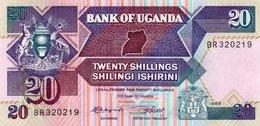 UGANDA=1988     20  SHILLINGS    P-29     UNC - Ouganda
