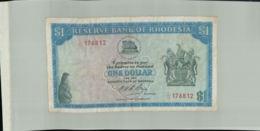 Billet Banque  Réserve Bank Of Rhodesia One Dollar 1974 -Janv 2020  Clas Gera - Rhodesia