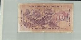 Billet De Banque  BANQUE NATIONALE SUISSE - 10 FRANCS  1956- (Serie 10S)  Janv 2020  Clas Gera - Suisse