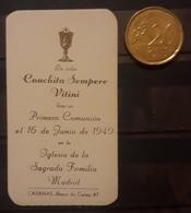 1949 RECUERDO DE PRIMERA COMUNIÓN. - Imágenes Religiosas