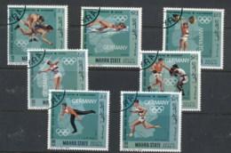 Aden Mahra State 1968 Mi#99-105 German Olympic Champions CTO - Emirati Arabi Uniti