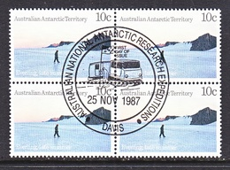 ATT L62 X 4  (o)  FDC Cd. EXPEDITIONS At  DAVIS - Used Stamps