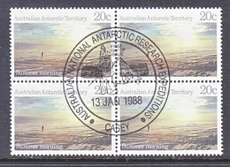 ATT L64 X 4  (o)  FDC Cd. EXPEDITIONS At  CASEY - Used Stamps