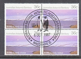 ATT L 68 X 4  (o)  FDC Cd. EXPEDITIONS At MACQUARIE IS. - Used Stamps