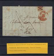 VOORLOPER 1842 VERZONDEN VAN Dinant NAAR Huy 1842 - 1830-1849 (Independent Belgium)