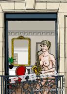 PYB: La Voisine D'en Face #2 [ Nu Nude Femme Saxophone CPM ] - Dessins