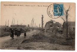 HULLUCH 1921 RUE DU MARAICHON EN RUINE - Autres Communes