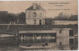 """SOISSONS   FRIQUE- LEFRANC    VENTE ET LOCATION DE BARQUES   """"  CARTE PAS COURANTE  """" CARTE EN L'ETAT  PLI  SUR UN ANGLE - Soissons"""