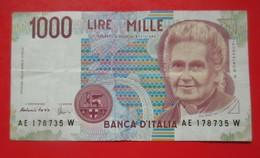 X1- 1000 Lire 1990. Italy Italie Lira-Circulated Banknote - [ 2] 1946-… : République