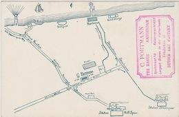 Ansicht Met Plattegrond /map Den Haag En Scheveningen Op één Kant, C. Fortmann; Molens, Boten Op Andere Kant, ± 1910 - Den Haag ('s-Gravenhage)
