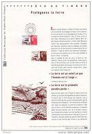 """FRANCE 2011 : """" PROTEGEONS LA TERRE / MARIANNE DE BEAUJARD """" Sur Doc Officiel 1°Jour. N°YT 4534. Parf état. - Milieubescherming & Klimaat"""