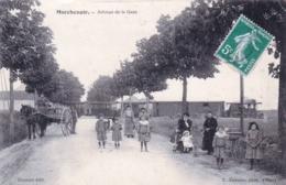 41 - Loir Et Cher - MARCHENOIR - Avenue De La Gare - Train Vapeur Traversant La Route - Marchenoir