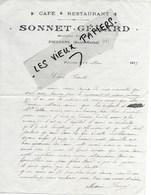 52 - Haute-marne - POISSONS - Facture SONNET-GERARD - Café - Restaurant - 1915 - REF 131C - France