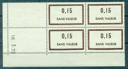 FRANCE N° 195 Bl De 4 Daté 16.3.72 + 173 Bl De 4 Daté 15.6.66 N Xx ( + 192 Et 201 Seulx) TB - Fictie