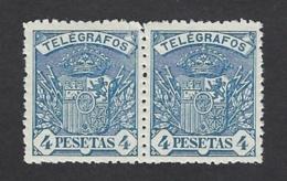 SPAIN 1921 TELEGRAPH 4pts Nº 61 ** MNH - Telegrafi