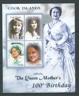 Cook Islands 2000 Queen Mother 100th Birthday Miniature Sheet MNH - Cook Islands