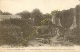 35.  PAIMPONT . Château De Comper , En Concoret . Les Ruines Vers L'entrée . - Paimpont