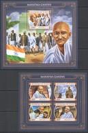 QQ719 2017 CHAD TCHAD TRIBUTE TO GREAT HUMANISTS MAHATMA GANDHI KB+BL MNH - Mahatma Gandhi