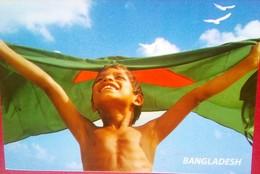 Flag And Child - Bangladesh