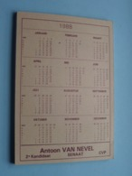 Antoon VAN NEVEL 2e Kandidaat Senaat CVP ( C.V.P. ) Notitieblok 1988 ( Zie  Voir Photo ) POLITIEK ! - Calendriers