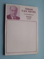 Antoon VAN NEVEL 2e Kandidaat Senaat CVP ( C.V.P. ) Notitieblok 1988 ( Zie  Voir Photo ) POLITIEK ! - Autres