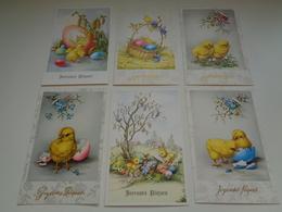 Beau Lot De 35 Cartes Postales De Fantaisie  Pâques    Mooi Lot Van 35 Postkaarten Fantasie  Pasen  - 35 Scans - Postkaarten