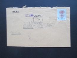 Papua Neuguinea 1962 Stempel Konedobu OHMS Brief Nach Australien Luftpost / Air Mail - Papua-Neuguinea