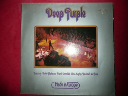 LP N°1721 - DEEP PURPLE - MADE IN EUROPE - COMPILATION 5 TITRES - TRES GRAND GROUPE - Rock