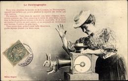 Cp Editions Bergeret, Le Devinographie, Frau Mit Hut Am Fleischwolf, Hase Springt Heraus - Non Classés