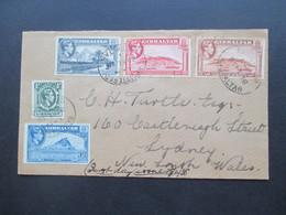 Gibraltar 1938 FDC Michel Nr. 107 - 111 Registered Letter To Sydney New South Wales Australien Einschreiben - Gibraltar