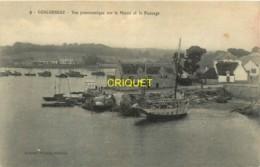 29 Concarneau, Vue Panoramique Sur Le Moros Et Le Passage, Beaux Voiliers - Concarneau