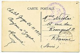 PUY DE DOME CP 1915 CHATEL-GUYON HOPITAL TEMPORAIRE N°65 CHATEL-GUYON - 1877-1920: Période Semi Moderne