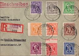 ! 1946 Einschreiben Aus Walsum Am Niederrhein Nach Celle, AM Post - American/British Zone