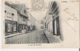 FISMES. CPA Voyagée En 1903 La Rue Des Bouchers - Fismes