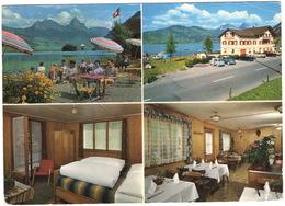 Lauerz: NSU PRINZ 30, DKW 1000, OPEL OLYMPIA REKORD, MG B, FORD 15M - Touristenhaus 'Rigiblick' - Route Luzern-Gotthard - Passenger Cars
