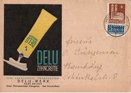 ! 1949 Dekorative Firmenpostkarte Aus Honnef, Delu Zahncreme, Automaten - Zona Anglo-Américan