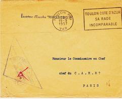 France, Toulon  En 1957 Franchise De L'escorteur D'escadre Maillé-Bréze - Poststempel (Briefe)