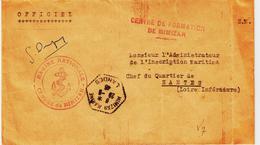 France, Agence Postale De Mimizan Marine En 1946  TB - Poststempel (Briefe)