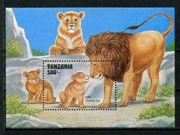 TANZANIE 1993 Bloc N° 187 ** Neuf MNH Superbe C 7 € Faune Sauvage Panthera Leo Birds Animaux - Tanzania (1964-...)