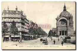 CPA Paris Boulevard Malesherbes Et I&#39Eglise Saint Augustin - District 08