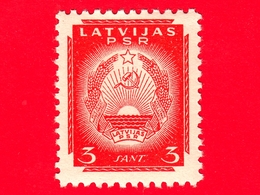 Nuovo - MNH - LETTONIA - LATVIJA - 1940 - Repubblica Sovietica Di Lettonia - Stemmi Araldici - Falce E Martello - 3 - Lettonia